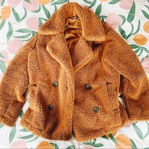 Free People Oversized Fluffy Soft Teddy Coat